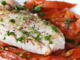 Bacalhau Fresco in Tomato-White Wine Reduction