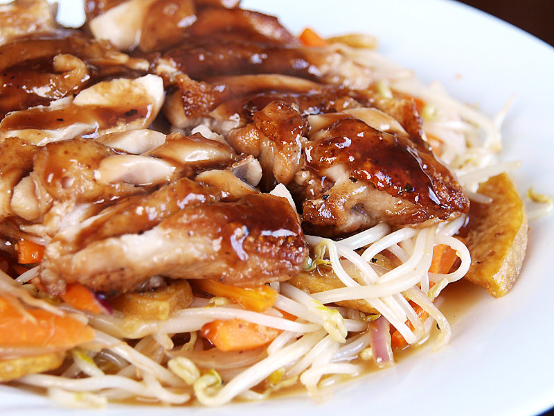 Chicken Teriyaki on bed of Stir Fried Bean Sprouts - Ang Sarap (A ...
