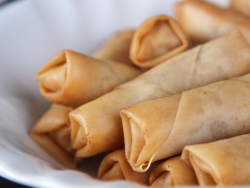 "Vegetarian Spring Rolls - Ang Sarap (A Tagalog word for ""It's ..."