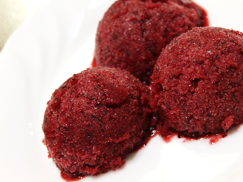 """Plum and Blueberry Sorbet - Ang Sarap (A Tagalog word for """"It's ..."""