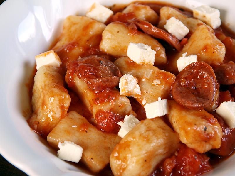Gnocchi in Tomato Sauce with Chorizo and Feta - Ang Sarap (A Tagalog ...