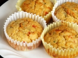 Cheesy Zucchini and Roasted Capsicum Muffin