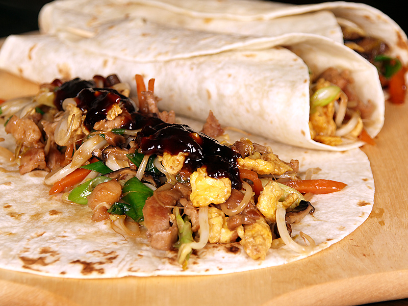 "Moo Shu Pork - Ang Sarap (A Tagalog word for ""It's Delicious"")"