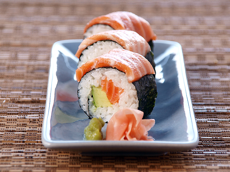"Salmon and Avocado Sushi - Ang Sarap (A Tagalog word for ""It's ..."