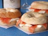 Salmon and Cream Cheese Bagels