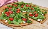 Guest Post : Judy from Savoring Today featuring Fig, Chevre & Arugula Pizza
