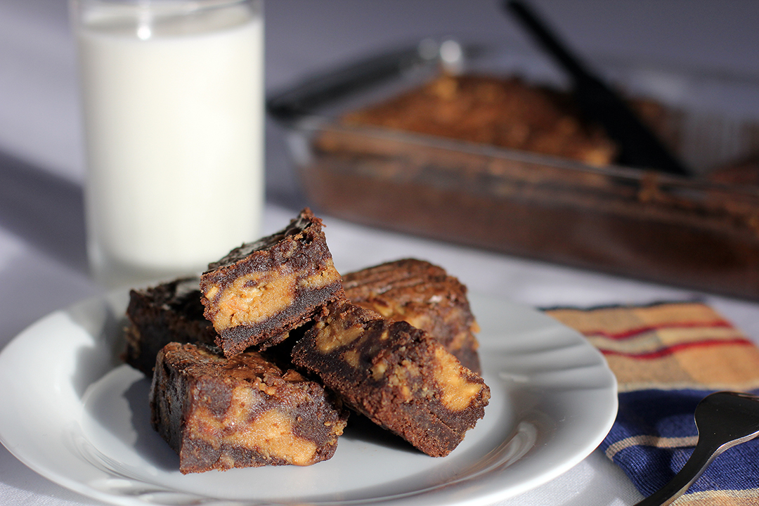 Peanut Butter Swirl Brownies - Ang Sarap
