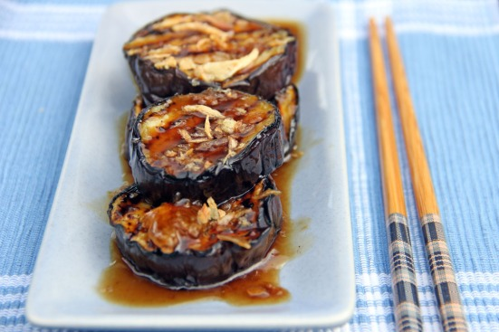 Grilled Eggplants in Garlic Oyster Sauce - Ang Sarap