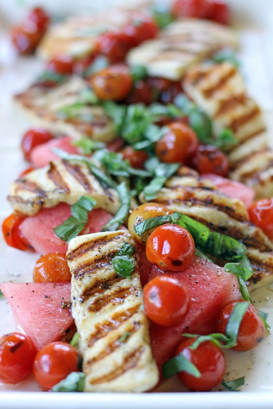 Watermelon and Haloumi Salad 1