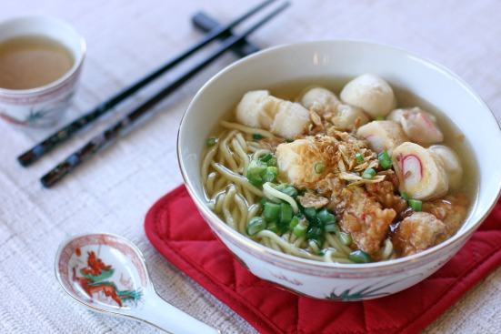 Fishball Noodle Soup Wide