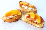 Peach, Bacon and Ricotta Crostini