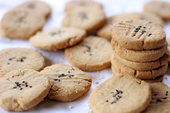 Tahini and Almond Cookies Wide