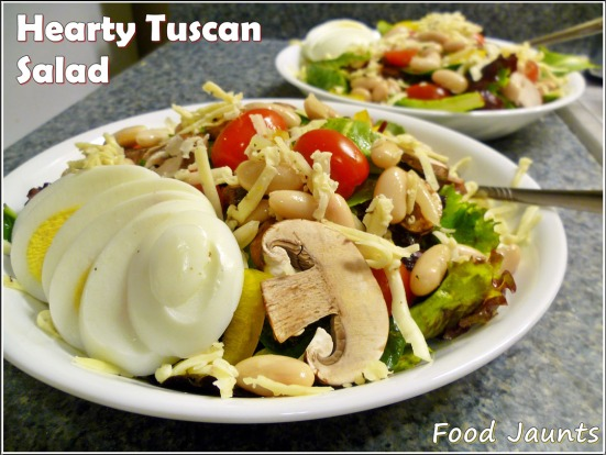 Hearty Tuscan Salad FoodJaunts