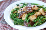Monk Fish and Broccolini in Shiitake and Black Bean Sauce