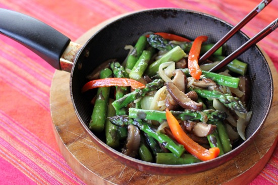 Asparagus and Mushroom Stir Fry Wide