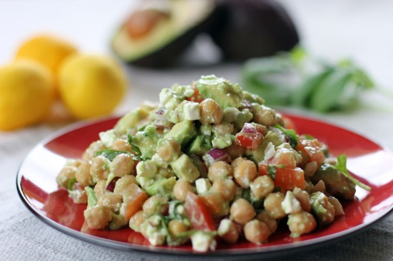 Chickpea, Feta and Avocado Salad 2