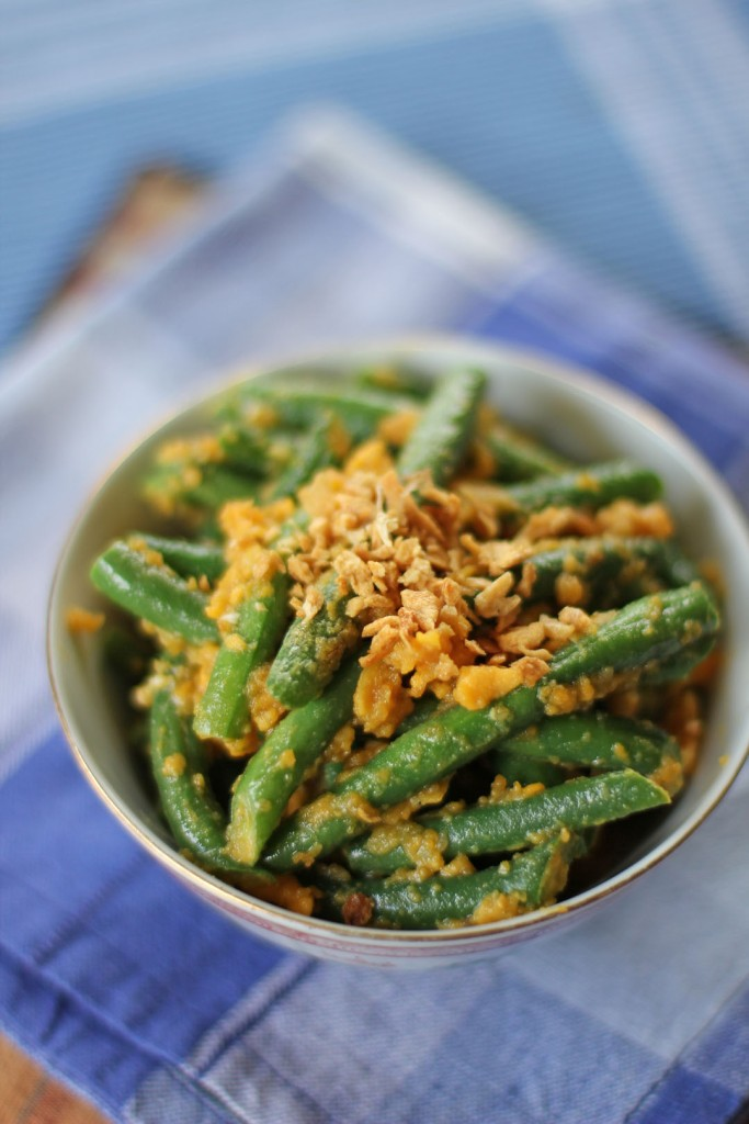 French Beans and Salted Duck Egg Yolks